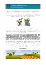 Help us keep Little Eaton tidy and protect our environment!